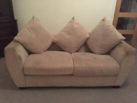 Pair of 3 seater sofas