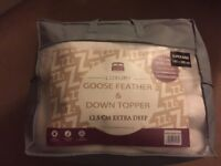 Super King Size Goose Feather & Down Mattress Topper NEW 12.5cm Extra Deep