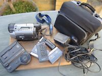 VINTAGE SONY CAMCORDER WITH ACCESSORIES