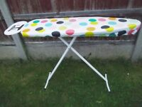 IRONING BOARD, TRAVEL IRON AND COVER