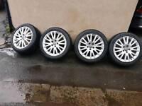 "Audi a3 8p ronal 5stud 7.5j 17"" alloy wheels"