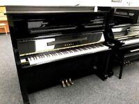 KAWAI KS1 Upright Piano Black Warranty & Stool