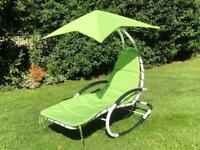 Helicopter style garden furniture rocking chair sun lounger