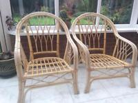 3 piece Bamboo cane conservatory furniture
