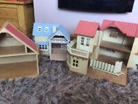 Sylvanian Families houses x 3