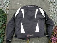 Motorcycle jacket and trousers (XL) for 6 foot adult,