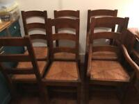 Reclaimed French oak dining room chairs