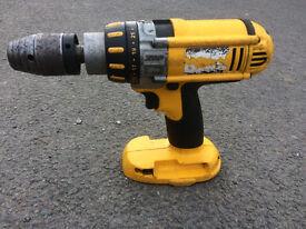 Dewalt 18 V XRP Hammer Drill- Bare unit, spares or repair.