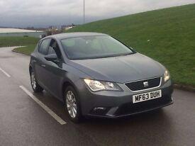 2013 63reg Seat Leon 1.6 TDI SE 5dr (start/stop) diesel***NEW SHAPE**ZERO TAX**1 OWNER not golf a3
