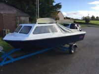 Seahog Hunter ,15 foot fishing boat with Mercury 25hp outboard