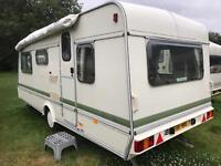 Caravan 4/5/6 berth Elddis Cyclone 1993 lovely condition Clevedon with full Awning