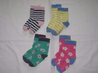 4 Pairs of Marks and Spencer Girls Socks in Size 8.5-12