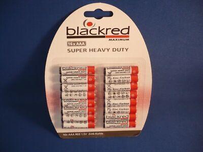 """Batterien Micro (R03/AAA), 16er Pack, 1,5V -  """"blackred MAXIMUM"""" MH: 04.2020 !"""