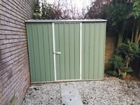 Absco Shedmaster 7'5x2'7ft Metal galvanised shed - fully assembled plus base