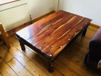 Beautiful solid wood coffee table. 5 Foot X 3 Foot