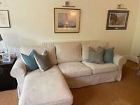 IKEA Ektorp 3 seater sofa with chaise longue