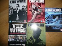 The Wire 1 to 5 box set DVDs,