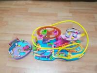 polly pocket amusement park and swimming pool