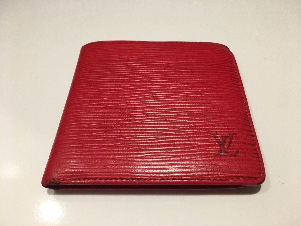 louis vuitton epi leather. genuine lv louis vuitton marco wallet epi leather red, rrp \u20ac650! epi