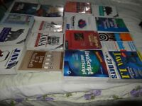 Clearance sale about 20 Various JAVA books from beginners to advance learning  on JAVA and