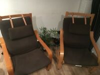 Two Ikea Chairs with Covers