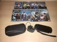 PSP Console and All 8 Harry Potter Movies