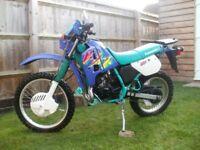 Kawasaki kmx 125 2 stroke very low miles genuine uk bike
