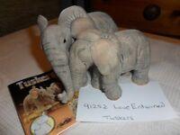 TUSKER elephant ornaments