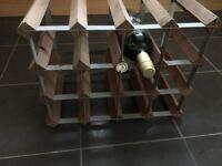 Vintage wine rack, holds 12 - 16 bottles