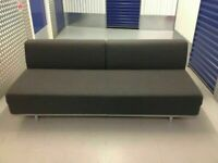 LOVELY MUJI T2 3 Seater Sofa Bed. Charcoal Grey Double Sofabed. Futon. COST £750. I CAN DELIVER