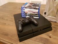 Playstation 4 PS4 500GB with games (COD Diablo 3 Battlefield 1 and more), headset and controller