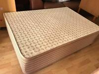 Double divan bed with spotless clean mattress