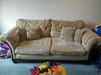 FREE TO COLLECTER Solid Wood 3 Seater Sofa