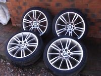 "BMW 18"" MV3 Alloy Wheels & Tyres in need of Refurb"
