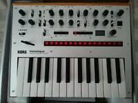 Korg Monologue Silver Synth with box