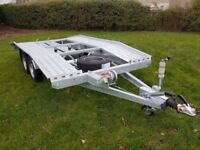 Car Transporter Trailer Recovery Flat bed 2700kg GVW 4.0 m long