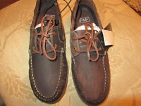 brown leather boat/deck shoes bnwt rrp £25 size 7