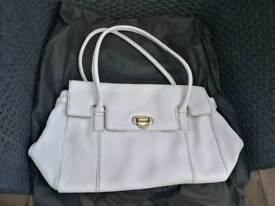 Brand new white leather handbag