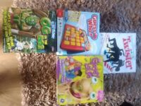 4 X board games inc Twister, Guess Who, Gooey Louie and Og on the Bog