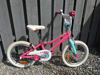 "Girls 16"" Giant Adore Bike w/ Training wheels"