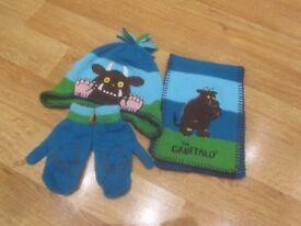 Gruffalo hat, scarf and gloves set