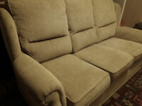 Sofa and armchairs, in like new condition