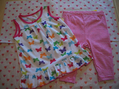 CARTERS SLEEPWEAR PAJAMAS GIRLS NWT BUTTERFLY 12 MONTHS