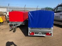 Brand New Car Trailers WITH COVER.