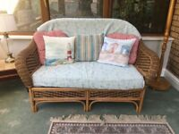 Wicker sofa and chair.Good condition but need gone ASAP.Great upcycle project.
