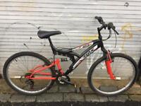Trax TFS1 full suspension mountain bike