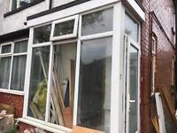 Porch windows and door