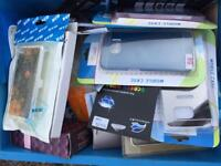 MOBILE PHONE CASES, CHARGERS, JOB LOT WORTH 2.5K