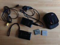 Canon IXUS 100 IS Digital Camera - Black - Charger - 3x Batteries - Lowepro case
