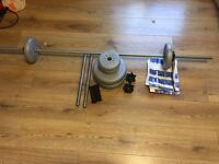 York Vinyl Barbell and Dumbell Set